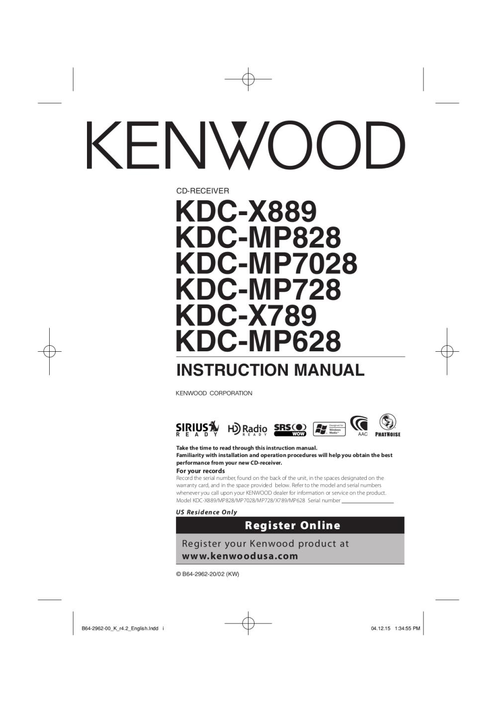 medium resolution of pdf for kenwood car receiver kdc 128 manual