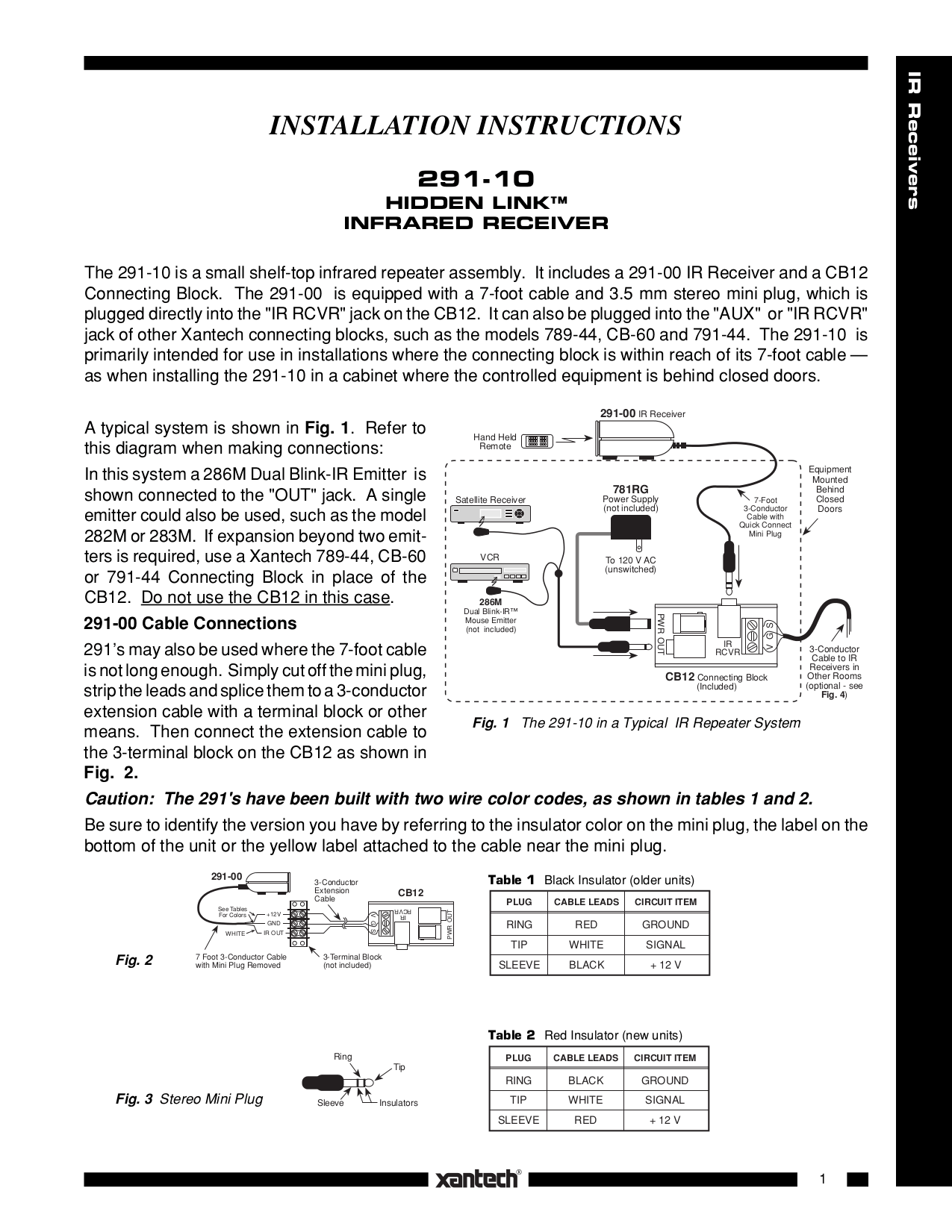 hight resolution of pdf for xantech other cb60 connecting blocks manual