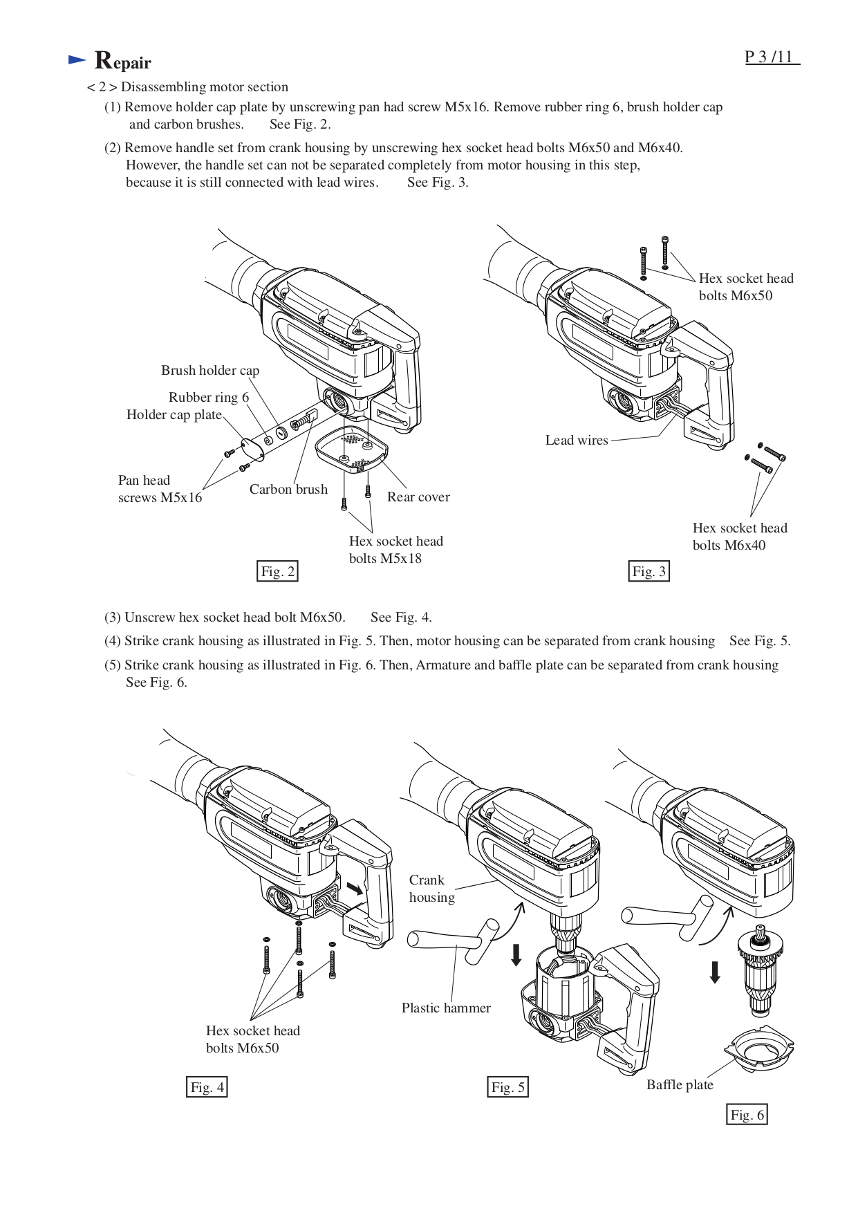 PDF manual for Makita Other HM1304B Demolition Hammer