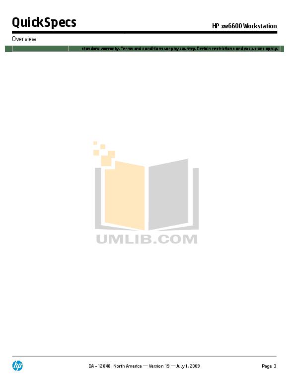 PDF manual for HP Desktop xw6600