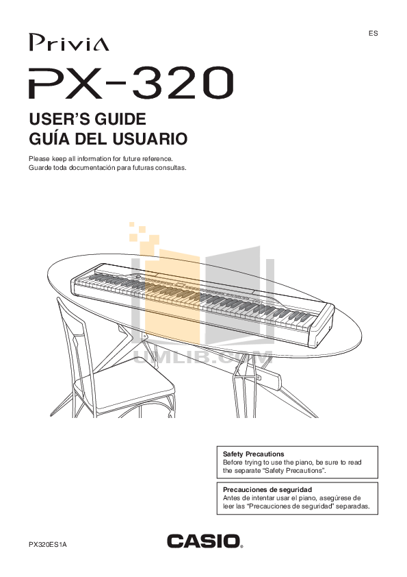 Download free pdf for Casio PX-320 Music Keyboard manual