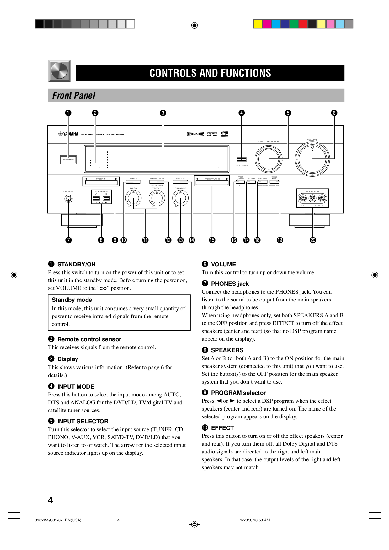 PDF manual for Yamaha Receiver RX-V496