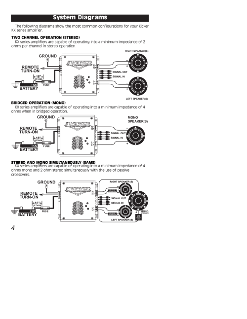 small resolution of 2 channel amp kicker wiring diagram