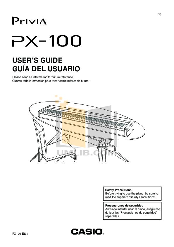 Download free pdf for Casio PX-100 Music Keyboard manual