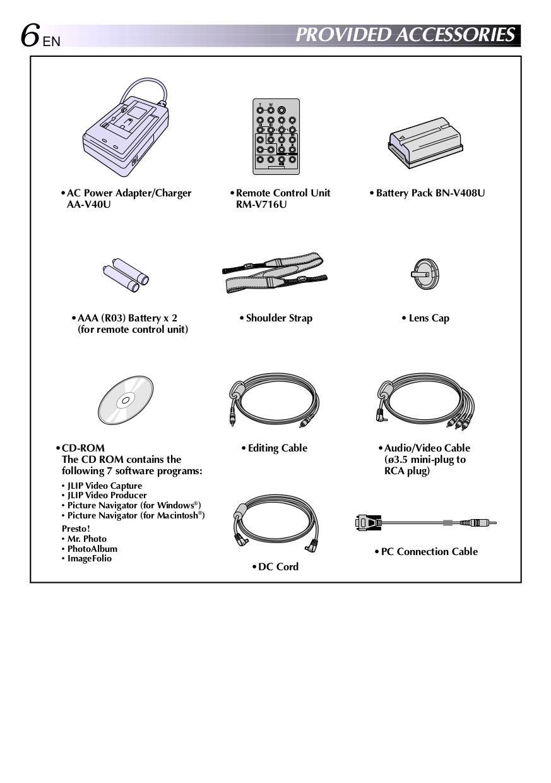 PDF manual for JVC Camcorders GR-DVL805U