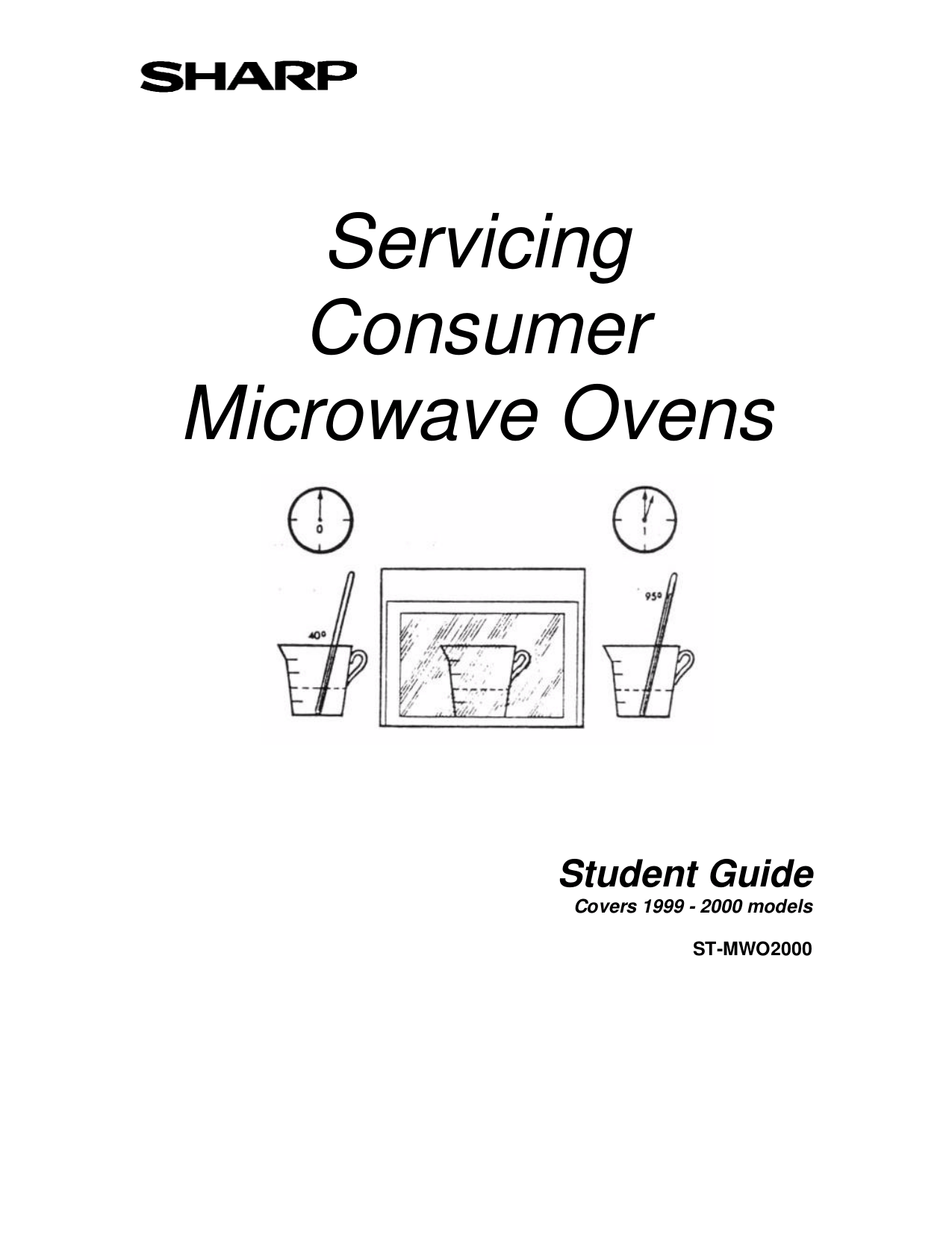 Download free pdf for Sharp R-630DS Microwave manual