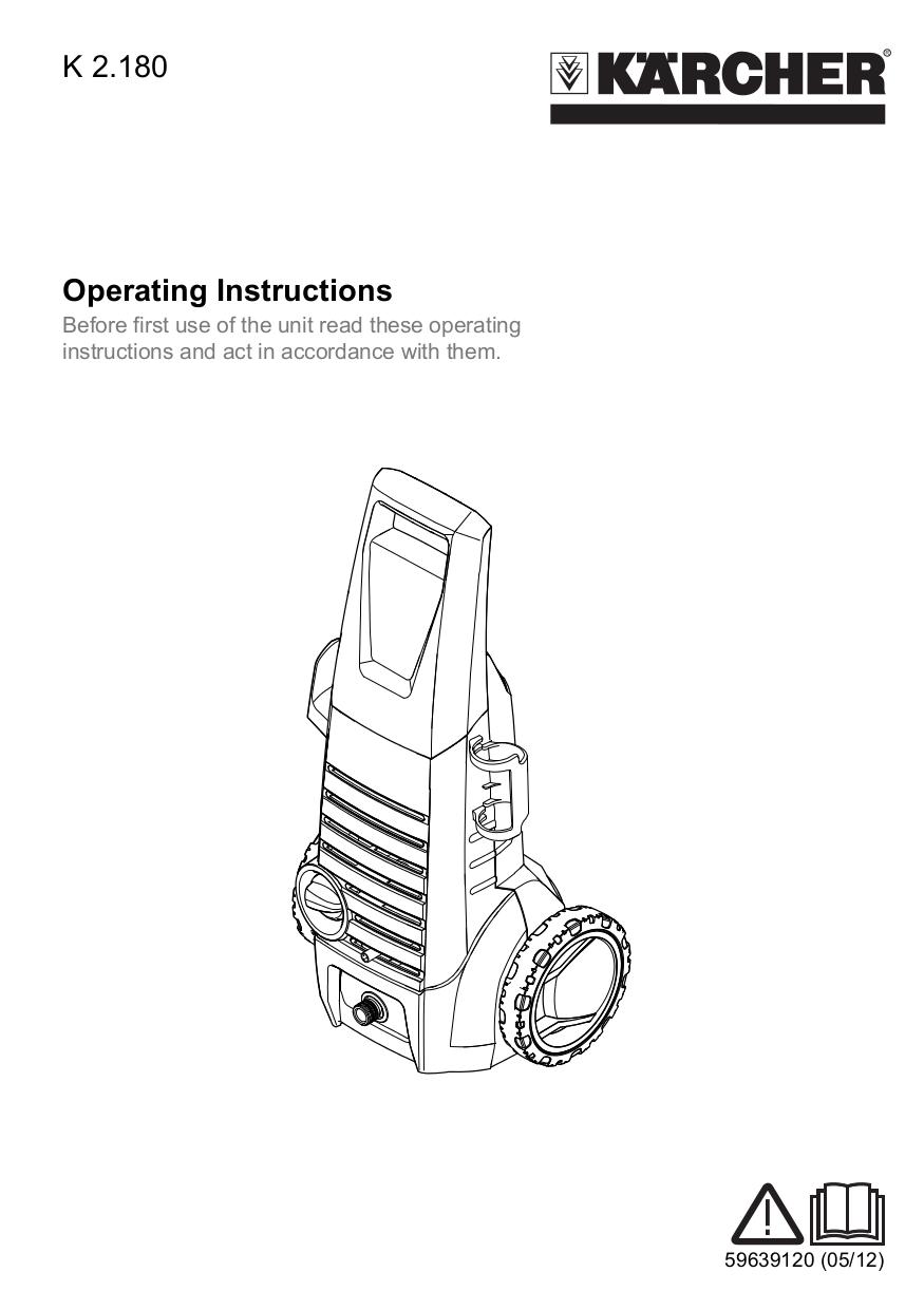 Download free pdf for Karcher K 620 M Pressure Washers