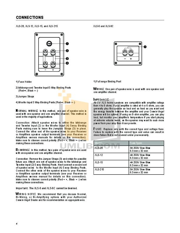 PDF manual for Cerwin-Vega Speaker CLS-215