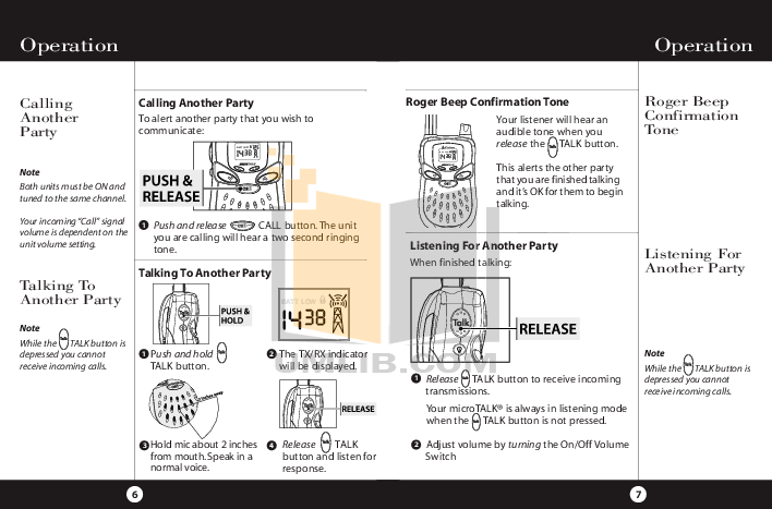 PDF manual for Cobra 2-way Radio microTALK PR 150