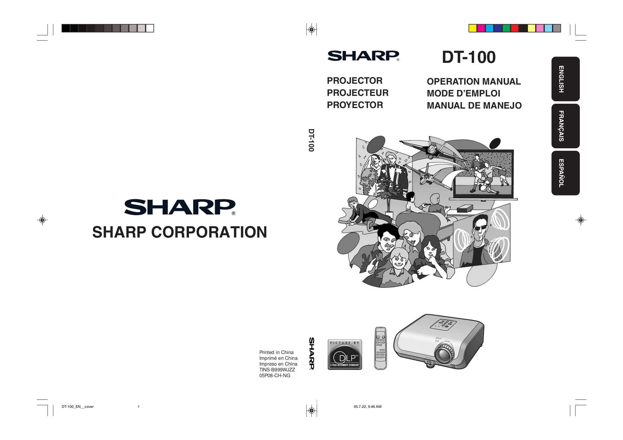 Download free pdf for Sharp DT-200 Projector manual