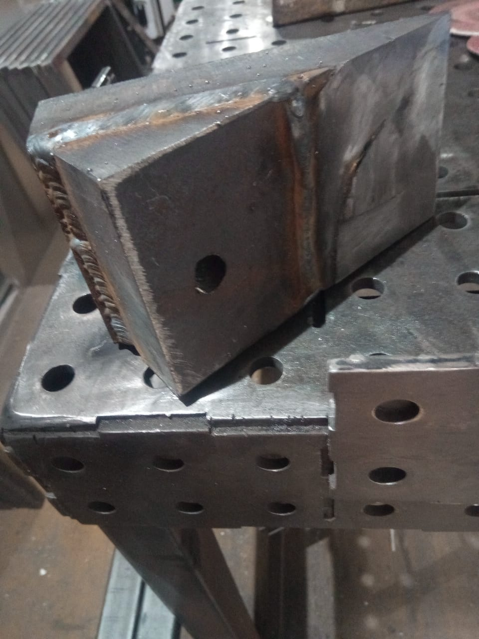 taper repair an anvil heel block