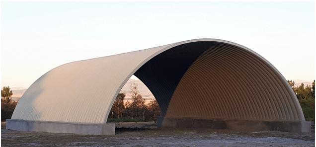 K-Span steel arch