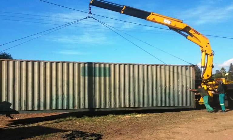 transporting shipping containers