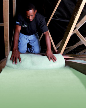 Exterior insulation options, recycled PET bottles Isotherm
