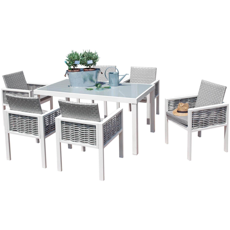Set Tavolo E Sedie Da Esterno.Set Tavolo E Sedie Da Giardino In Alluminio Alluminio Set Mobili