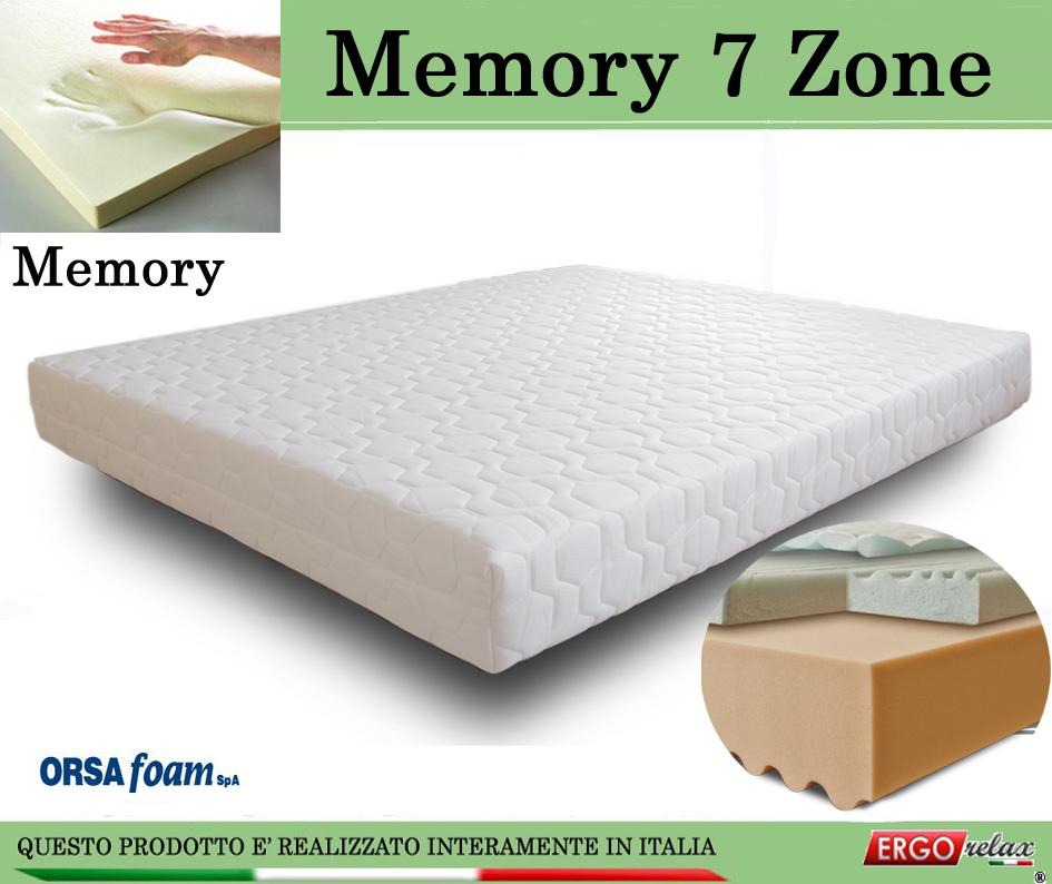 Materasso Memory Mod 7 Zone Singolo da Cm 80x190195200