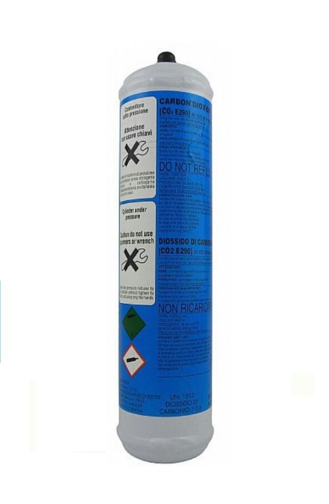 Bombola co2 600grammi usa e getta per depuratori acqua e