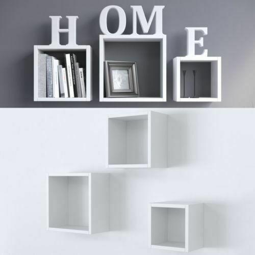 Quando in casa si ha una parete vuota, la soluzione più adatta è aggiungere una o più mensole. Set 3 Mensole Da Parete Scaffale In Legno Bianco O Nero Mensola A Muro Pensile