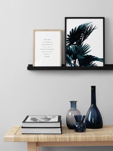 Mensola da parete cubist grande. Mensole Da Parete Scaffale A Muro Moderno Per Quadri Cornici Design Bianco Nero
