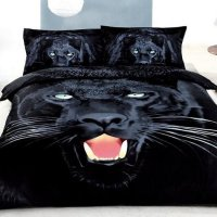 3D Black Panther Printed Cotton 4-Piece Bedding Sets/Duvet ...