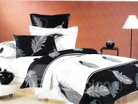Elegant Feather Print Classic Black and White Color 4 ...