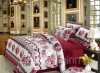 Elegant Style with Peony Flower Print Comfortable ...