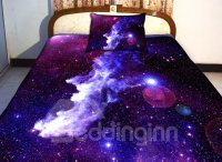Amazing Purple Galaxy Print 4-Piece Duvet Cover Sets ...