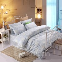 Ethnic Style Phoenix Tail Blue 4-Piece Cotton Duvet Cover ...