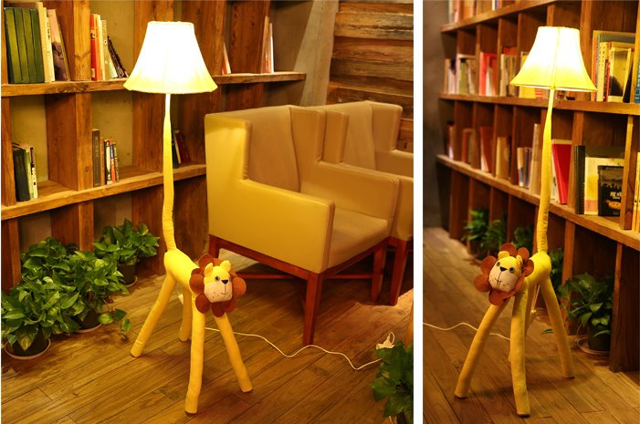 Soft Material Leo Standing Lamp for Funky Leo Astrology Home Decor
