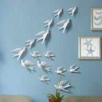 Creative Wall Decorative 3D Birds Multi-Color 3D Wall ...