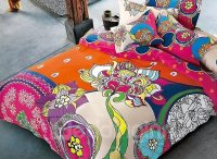 Abstract Colorful Flowers Design Cozy Cotton 4-Piece Duvet ...