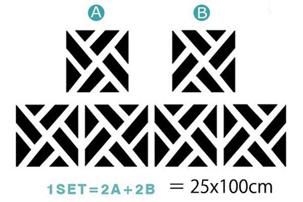 Unique Geometric Pattern Removable Mirror 3D Wall Sticker