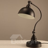 Black Simple Style Iron Home Decorative Table Lamp ...