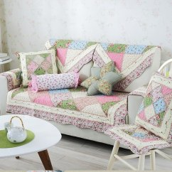 Outdoor Sofa Covers Australia Cheap 2 Seater And Chair Modern Country Style Splicing Flower Pattern Quilting Seam ...
