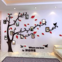 Photo Frame Tree Country Style Acrylic 3D Waterproof 11 ...