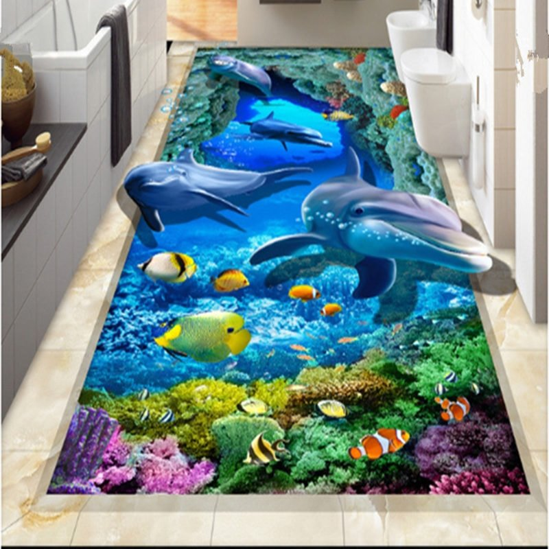 Fast Car Wallpaper For Bedroom Unique Design Vivid Dolphin And Fish Sea Scenery