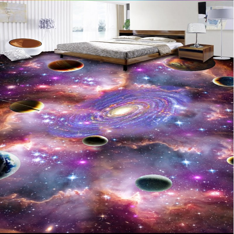 Mysterious Planets in Galaxy Print Home Decorative