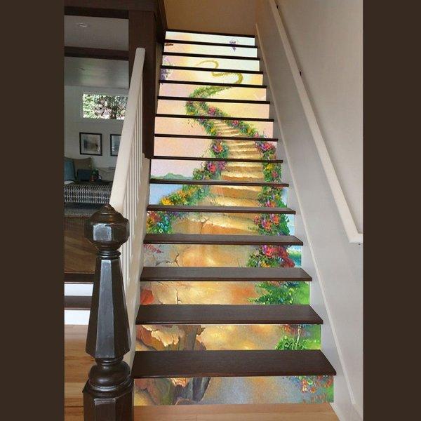 Stair Riser Murals 3D