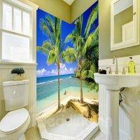 Leisurely Blue Sky and Seaside Scenery Pattern Waterproof ...