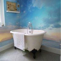 Sunset Sky and Sea 3D Waterproof Bathroom Wall Murals ...