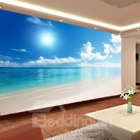 Blue Sky and Sea Scenery Pattern PVC Waterproof and ...