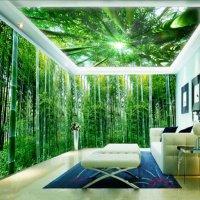 3D Green Natural Bamboo Forest Pattern Design Waterproof ...