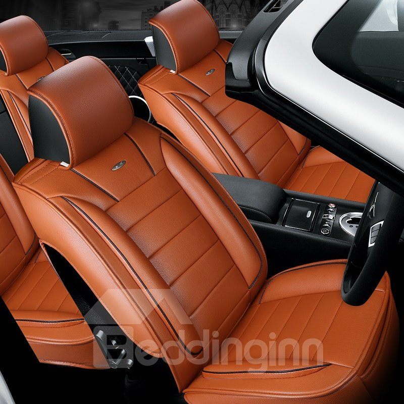 Finely Processed Leather Business Style Design Universal Car Seat Covers  beddinginncom