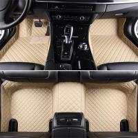 Luxury Series Plaid Trims Design Leather Carpet Custom Fit ...