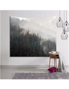Foggy mountains and forest decorative hanging wall tapestry also size chart beddinginn rh
