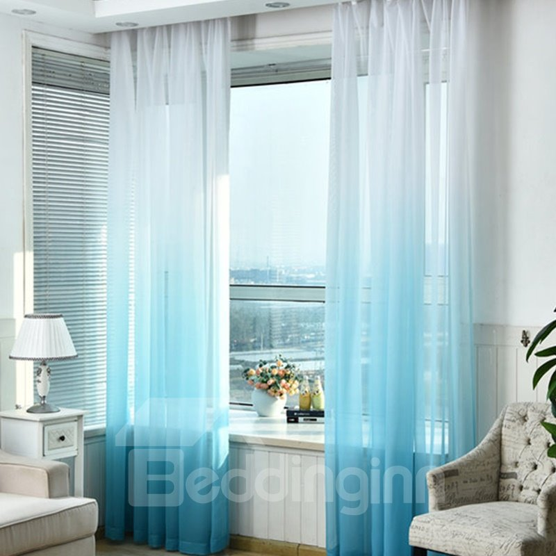 Decorative and Blackout Polyester Gradient Sheer Korean