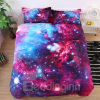 Onlwe 3D Stars and Multicolored Galaxy Printed Cotton 4 ...