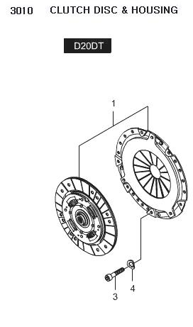 30A0009413 Clutch Disc & Clutch Cover Set 30A0009400