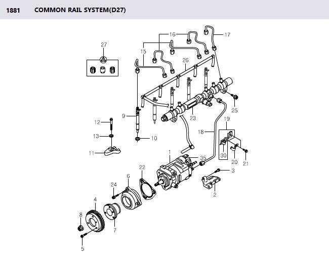 EJBR04601D Fuel Injector Delphi 6650170321 Euro III Rexton
