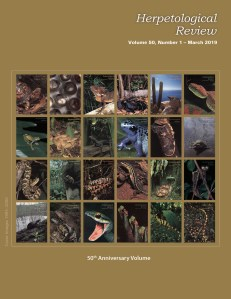 Herpetological Review 50(1) available online! – Society for